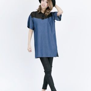 NEW Diesel Pullover Dress Monique Chambray Jean /